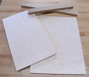 Scraps to make a shooting board