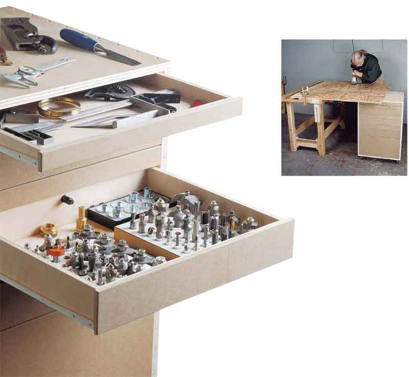 Cabinet Plans Free: How To Make Rolling Garage Cabinets: DIY Plans, Free