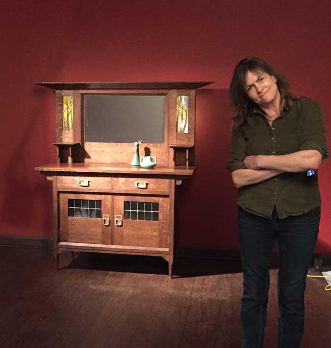 nancy hiller and her englisg arts & crafts sideboard