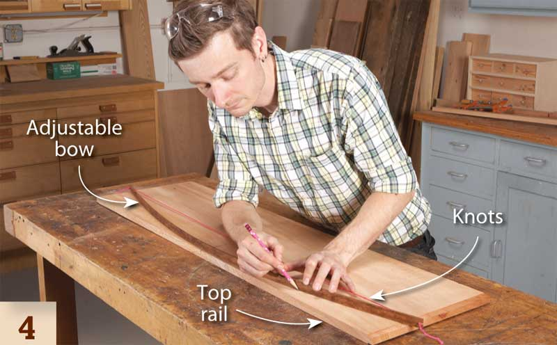 4. Pro Tip Use an adjustable bow to lay out large arcs. To make the bow stretch a string with evenly spaced knots between slots cut in the ends of a thin ...  sc 1 st  Popular Woodworking Magazine & DIY Plate Rack Pattern: How to Build Your Own Plate Rack