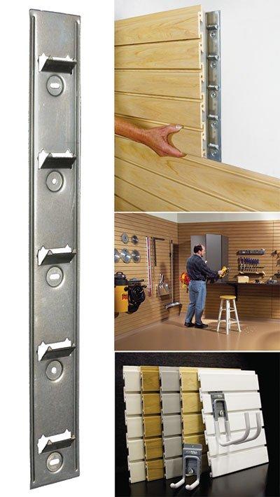 StoreWall and InstallStrip Garage Storage