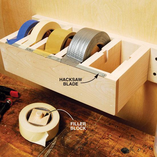 Jumbo Tape Dispenser - Popular Woodworking Magazine