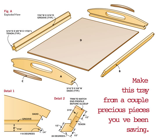 New  Serving Tray  By DarrylJN  LumberJockscom  Woodworking Community