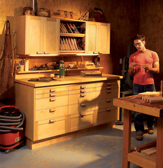 Modular shop cabinets popular woodworking magazine for American woodcraft kitchen cabinets