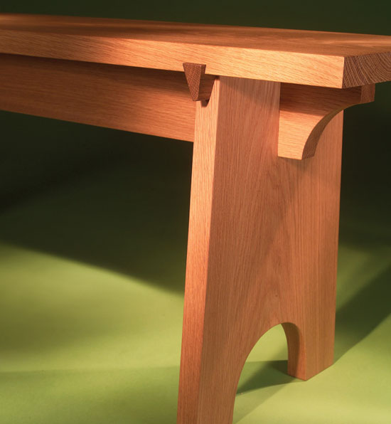 Sliding Dovetail Bench - Popular Woodworking Magazine