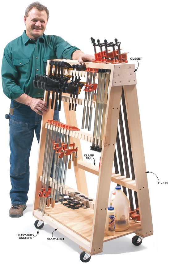 Mobile Clamp Rack - Popular Woodworking Magazine