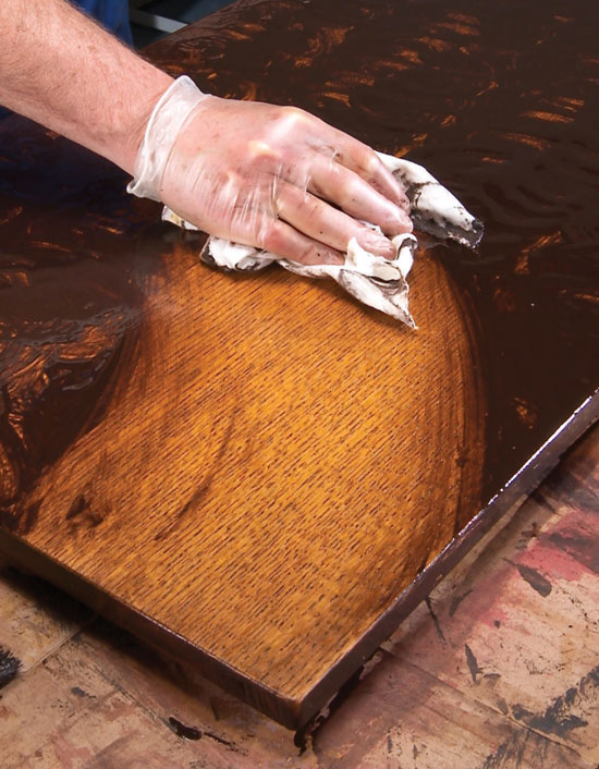 how to get wax stains out of wood