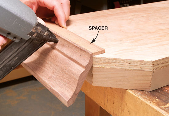 Table top molding