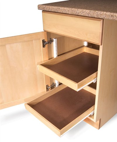 Aw extra 12 27 12 10 easy ways to add roll outs for Additional shelves for kitchen cabinets