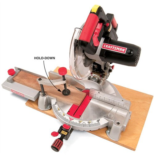 Using the Hold Down of Your Miter Saw