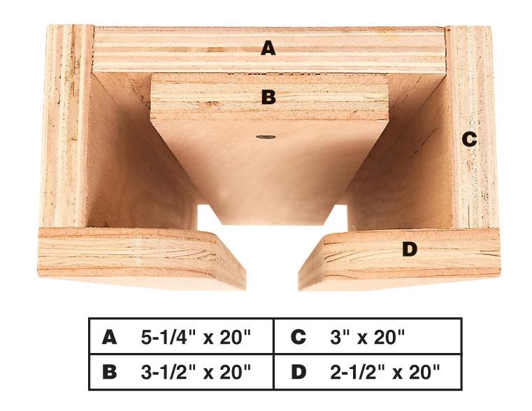 Overhead Plywood Storage Rack