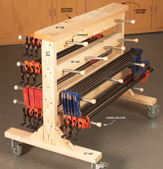 Double Duty Clamp Rack - Popular Woodworking Magazine