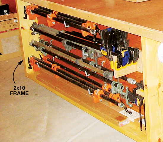 Handy Clamp Storage - Popular Woodworking Magazine
