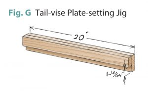 tail vise fig g tail vise plate setting jig