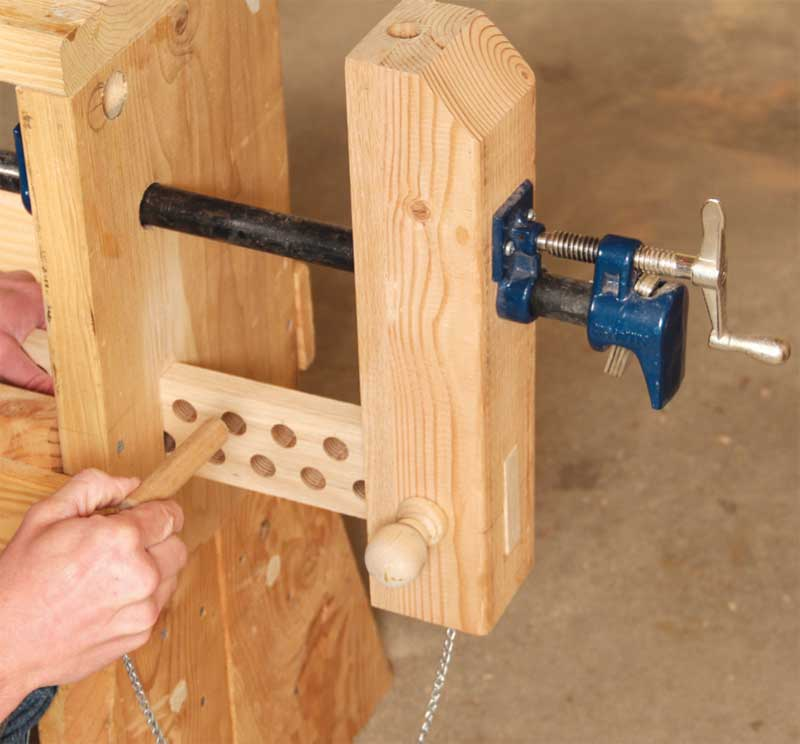 Classic vises made with pipe clamps popular