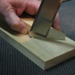 """I'll often reach for my 1-1/4"""" or 1-1/2"""" bench chisel to tackle a piece of banding that is all of 3/16"""" wide and 1/16"""" thick."""