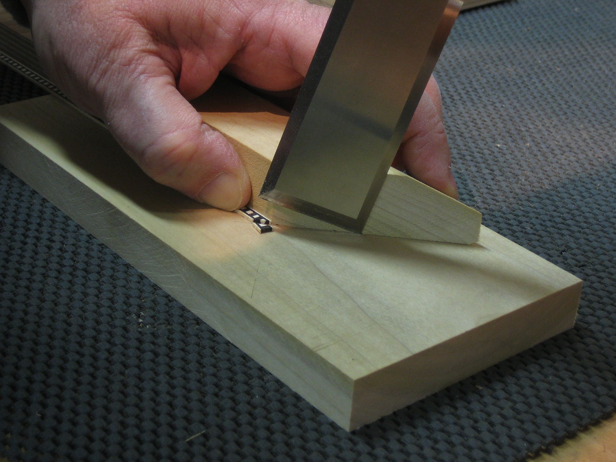 "ll often reach for my 1-1/4"" or 1-1/2"" bench chisel to tackle ..."