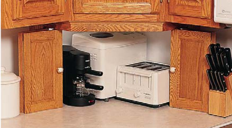 Appliance Garage Counter Top : Appliance garage popular woodworking magazine