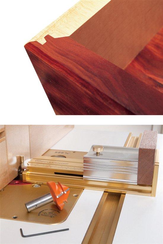 ... -Equipped Shop - Lock Miter Setup Jig - Popular Woodworking Magazine