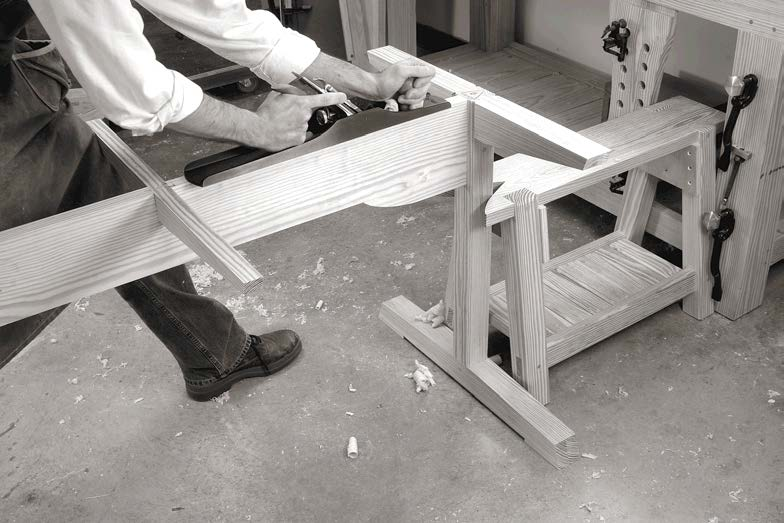 American trestle table woodworking magazine website