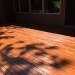 Applying an oil finish to a deck and not wiping off the excess will leave the wood spotty, gloss and dull