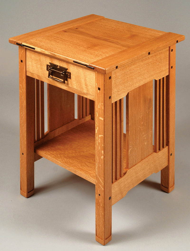 Arts crafts bedside table popular woodworking magazine Night table ideas