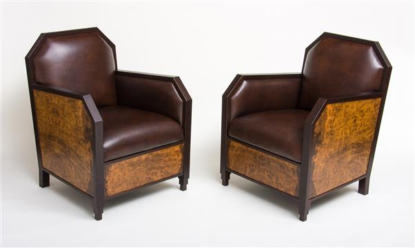 Art Deco club chairs by Craig Thibodeau