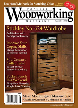 Popular Woodworking Magazine August 14 Cover