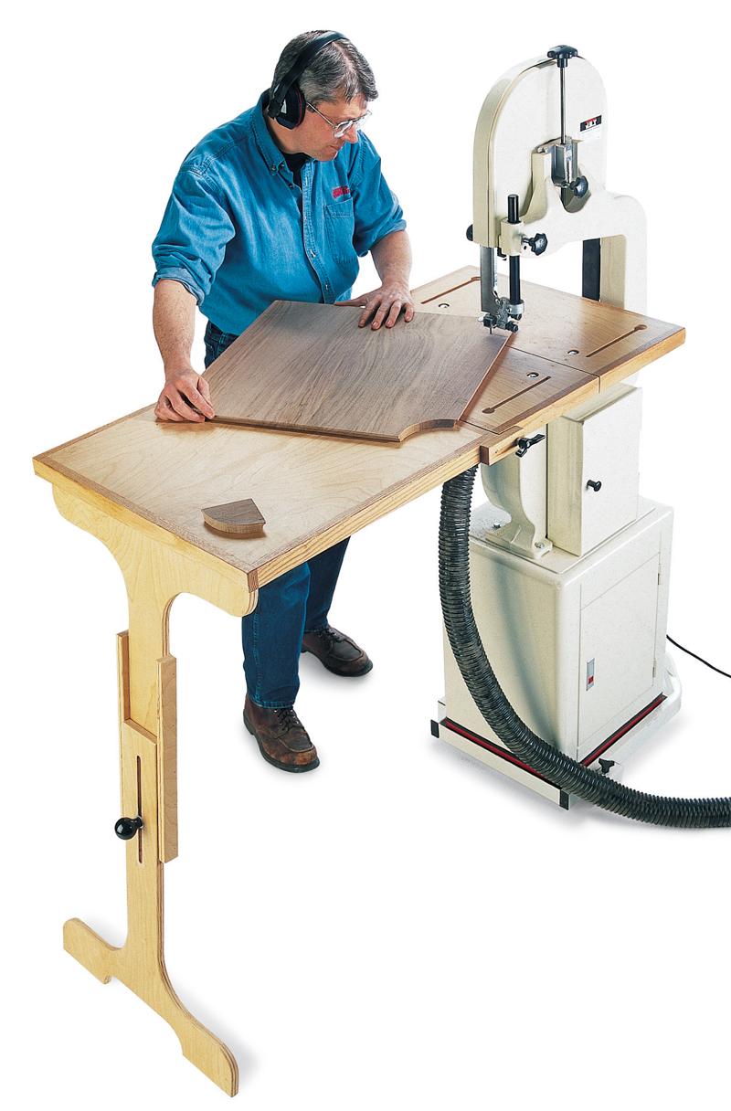 Bandsaw table system popular woodworking magazine Band saw table