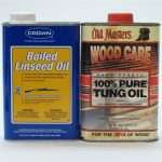 Boiled linseed oil and tung oil