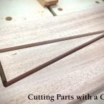 Precisely cutting a narrow triangle-shaped opening with power and/or hand tools is anything but simple. Cutting parts and precise details are tasks well suited for digital woodworking and CNCs.