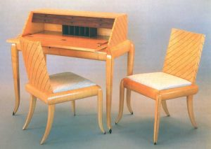 Castle writing desk and chairs