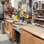 Miter saw and shop storage