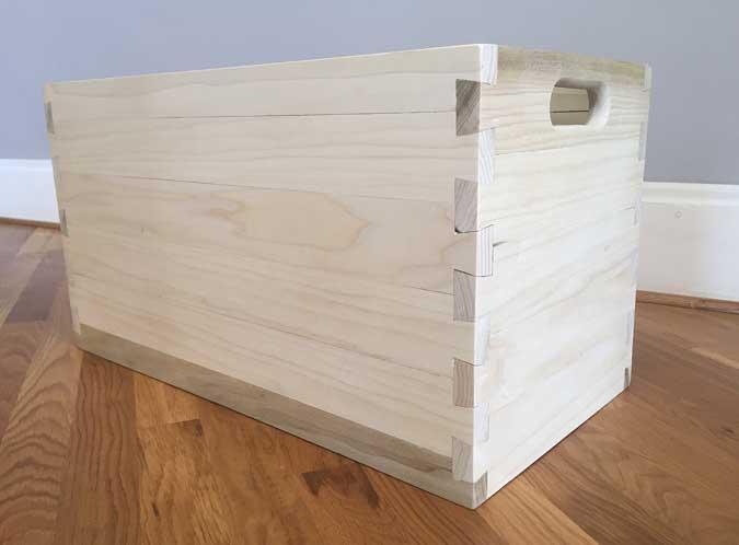 log cabin dovetails box