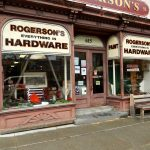 The store's window on Warren street, Hudson NY