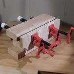 """This Bench bull is equipped with two 1/2"""" pipe clamps"""