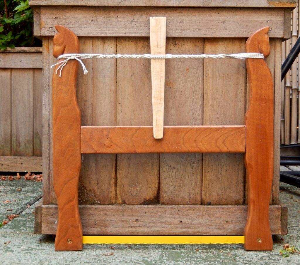 "Julia's cherry wood ""Horses"" saw"