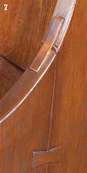 Aw extra 6 6 13 greene and greene furniture details for Wood floor joint guard