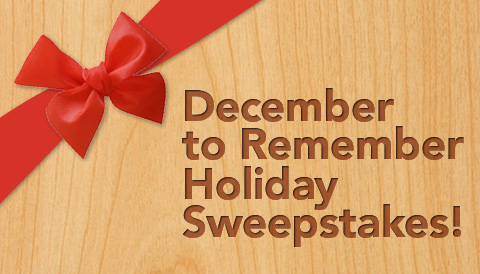 December to Remember Holiday Sweepstakes