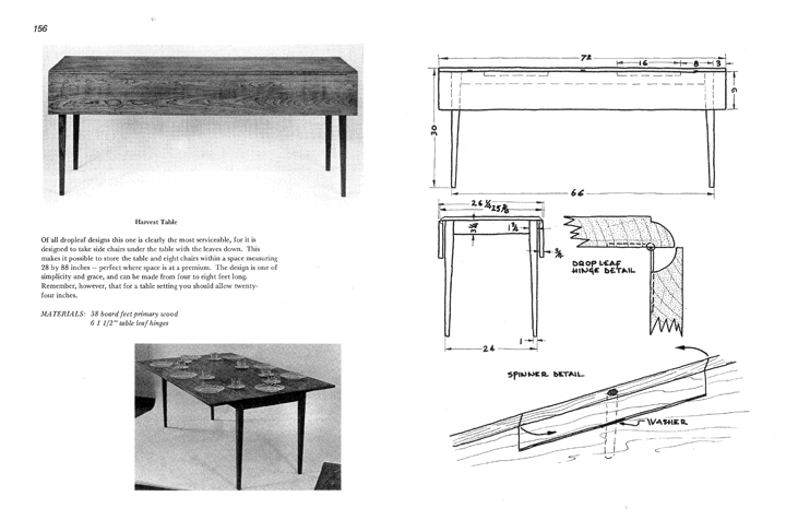 Free shaker furniture plans