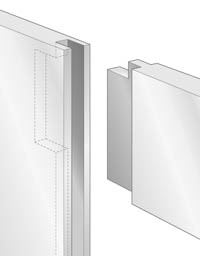 Haunched mortise-&-tenon joint