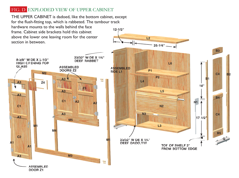 Hoosier cabinet popular woodworking magazine for Build your own kitchen cabinets popular woodworking