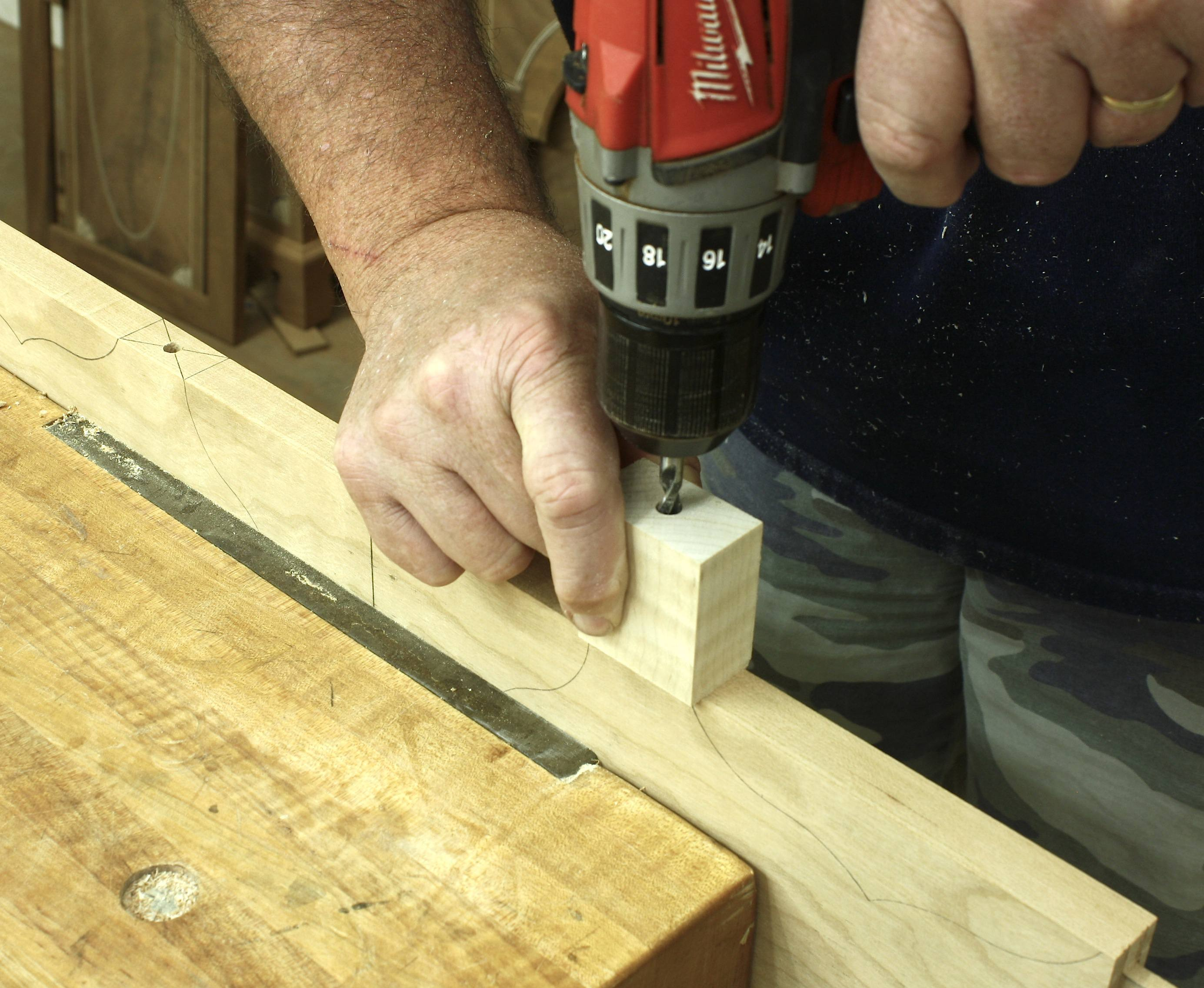 how to cut deadbolt hole without drill