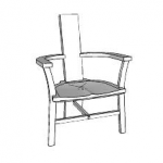 Irish chair sketchup