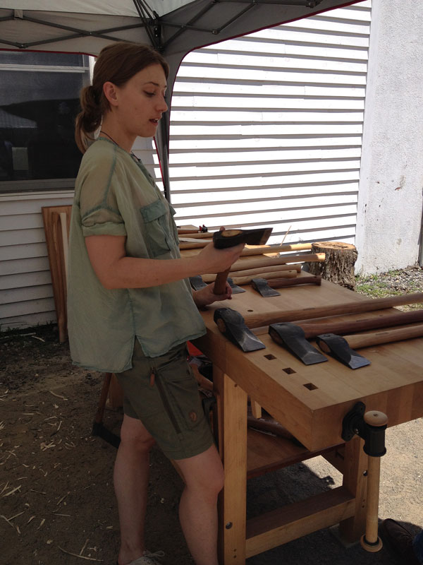 Julia Kalthoff, of Wetterlings Swedish Axe Works