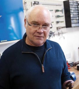 The innovator. Karl Holtey, of Holtey Classic Planes, pictured in his workshop.