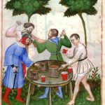 "A drunken brawl in ""Tacuinum Sanitatis."""