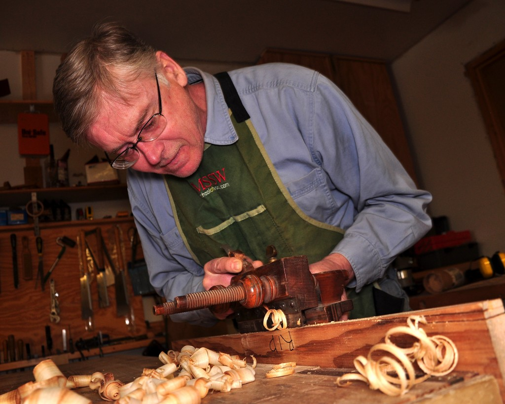 Mike Siemsen's hand tool school is a terrific place to improve your skills. Photo credit: Arlo Siemsen.