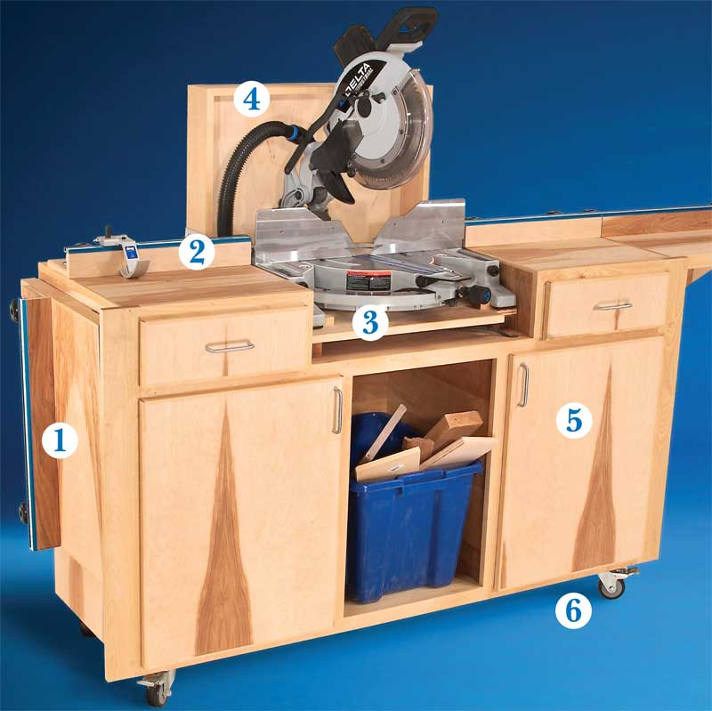AW Extra 6/6/13 - Mobile Miter Saw Stand - Popular Woodworking Magazine