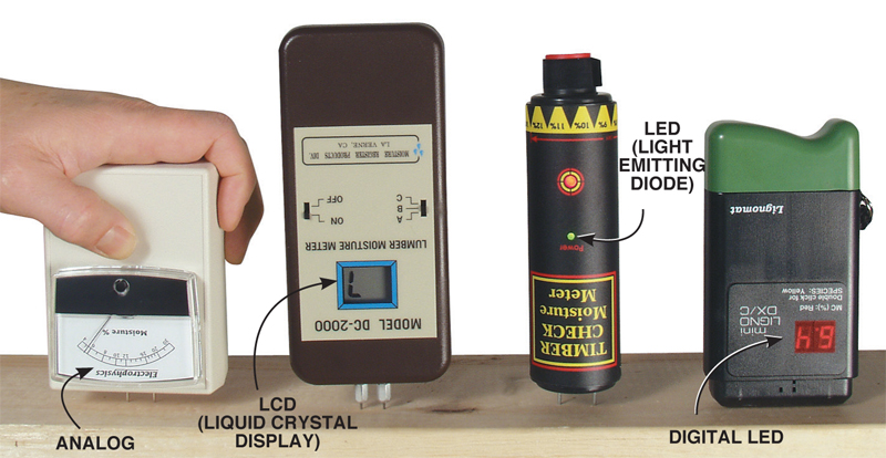 how to read a moisture meter